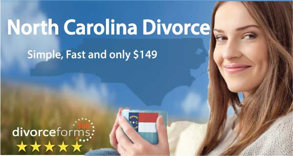 North Carolina divorce papers